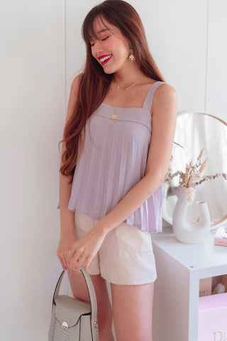 Femme Pleat-it Top (Soft Lilac)