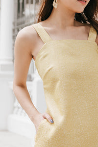 Tara Jacquard Dress (Gold)