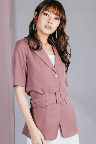 Tyller Belt Top (Rose)