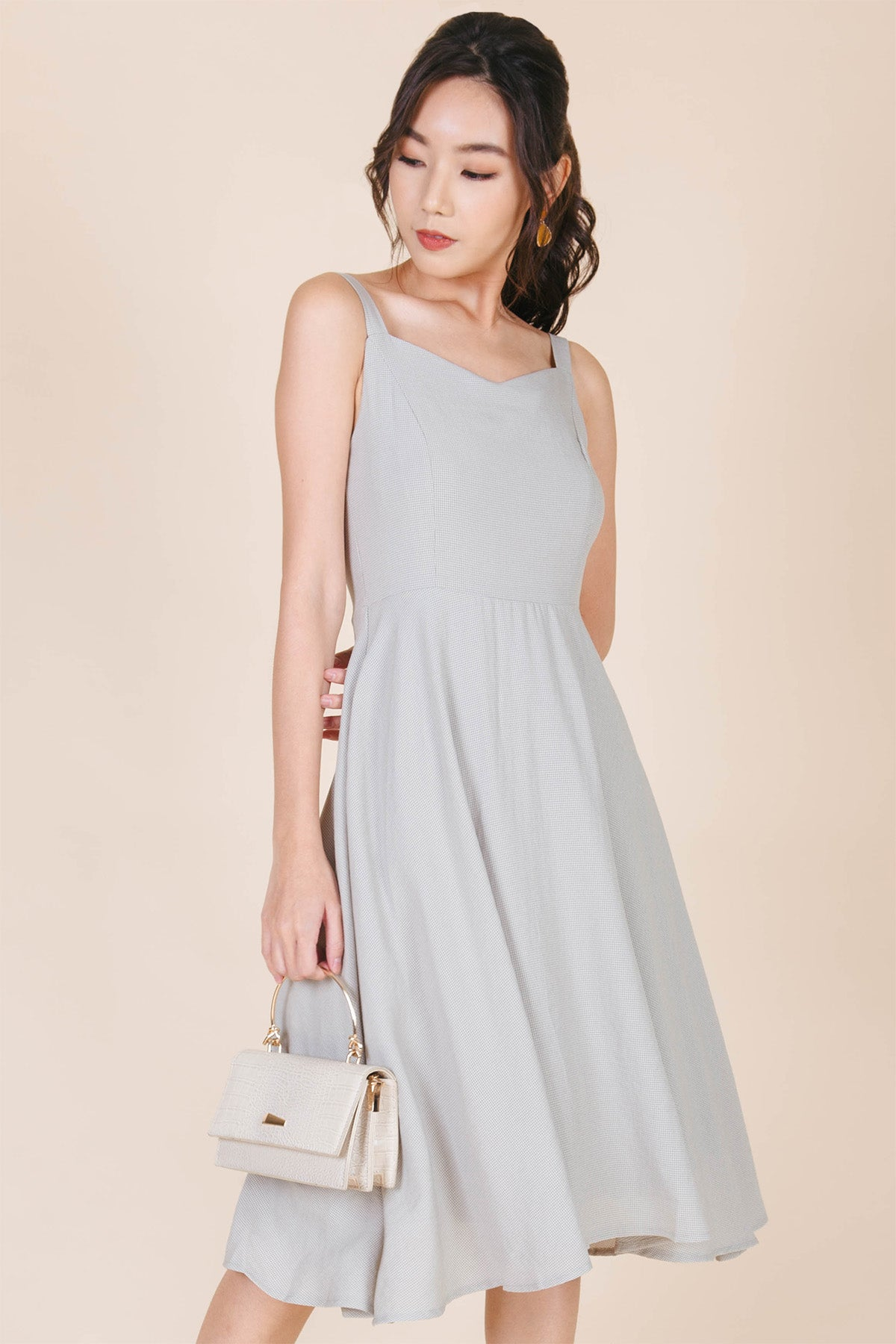 Kei Swing Midi Dress (Sage Green)