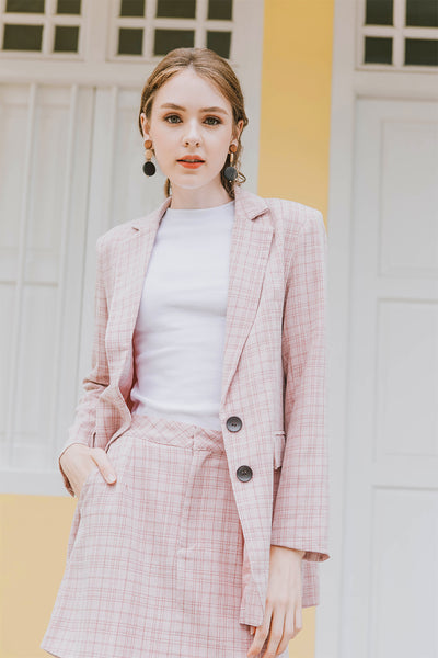 Freya Plaid Skirt (Pink)