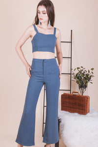 Divina Cropped Top (blue)