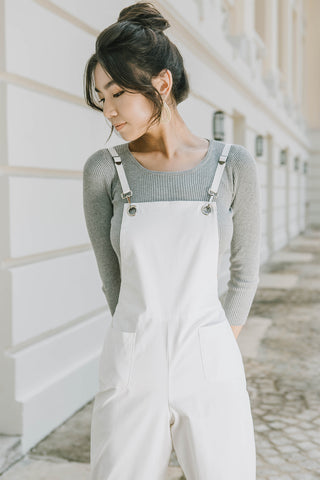 Kim Off-duty Jumpsuit (White)
