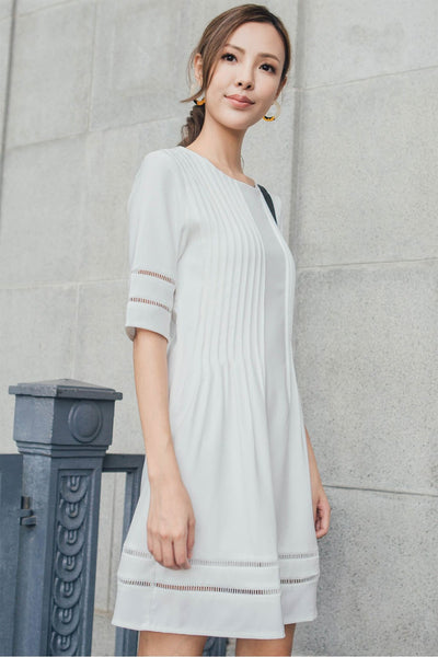 Shein Pleated Dress (White)