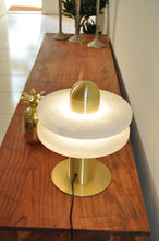 Load image into Gallery viewer, Table Lamp Brass/Stone Marble D