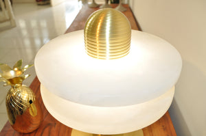 Table Lamp Brass/Stone Marble D