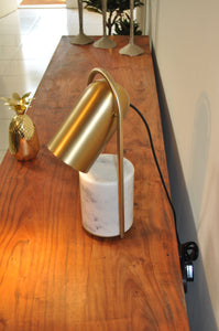 Table Lamp Brass/Stone Base