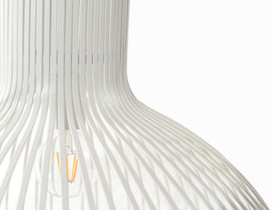 Pendant Light - white slated wire shade