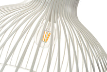 Load image into Gallery viewer, Pendant Light - white slated wire shade
