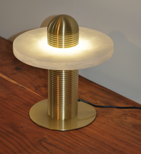 Load image into Gallery viewer, Table Lamp Brass/Stone Marble S