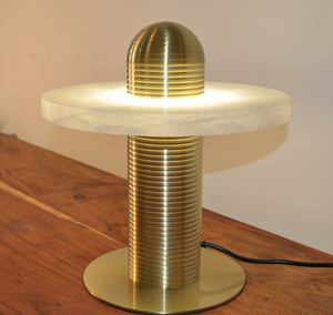 Table Lamp Brass/Stone Marble S