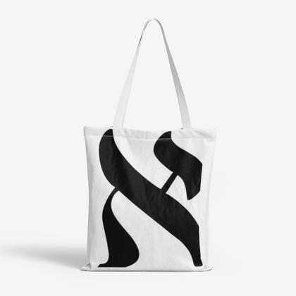 Hebrew Letter Tote Bags