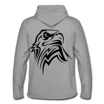 Unisex Lightweight Terry Hoodie/ Eagle - heather gray