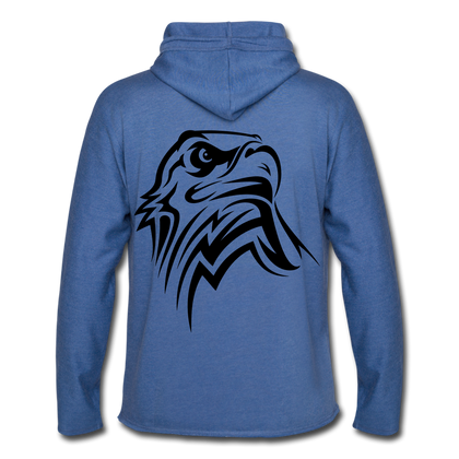 Unisex Lightweight Terry Hoodie/ Eagle - heather Blue