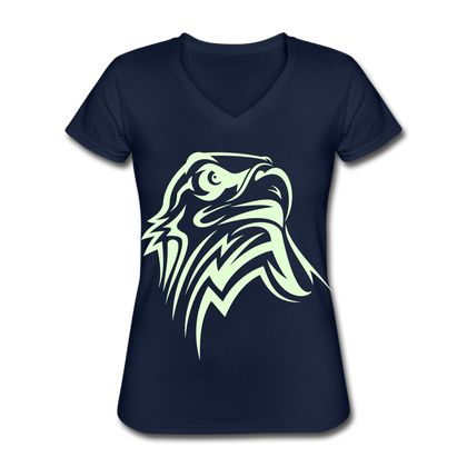 Eagle Women's V-Neck T-Shirt - navy