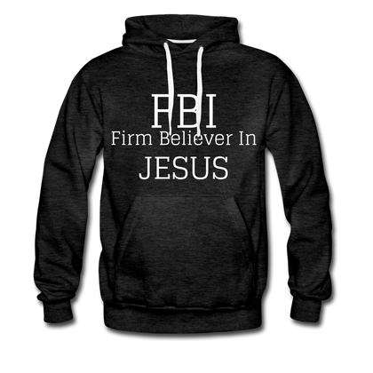 FBI: Firm Believer In Jesus Men's Premium Hoodie - charcoal gray