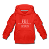FBI: Firm Believer In Jesus Kids' Hoodie