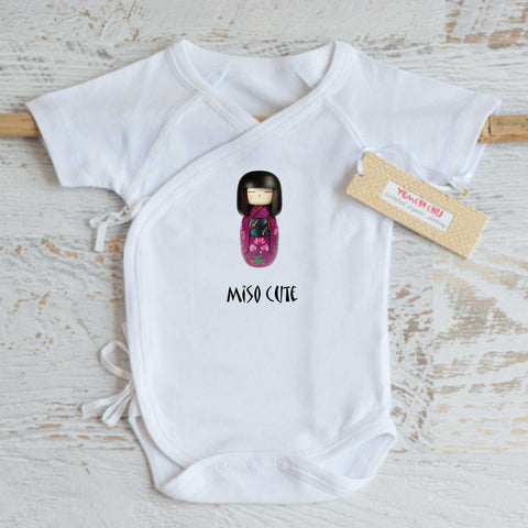 Kokeshi Doll Girl Onesie