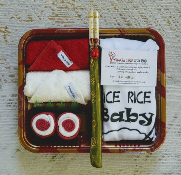 "Rice Rice Baby ""red"" Sushi Pack"