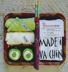 "Made In Va China"" green "" Sushi Pack"