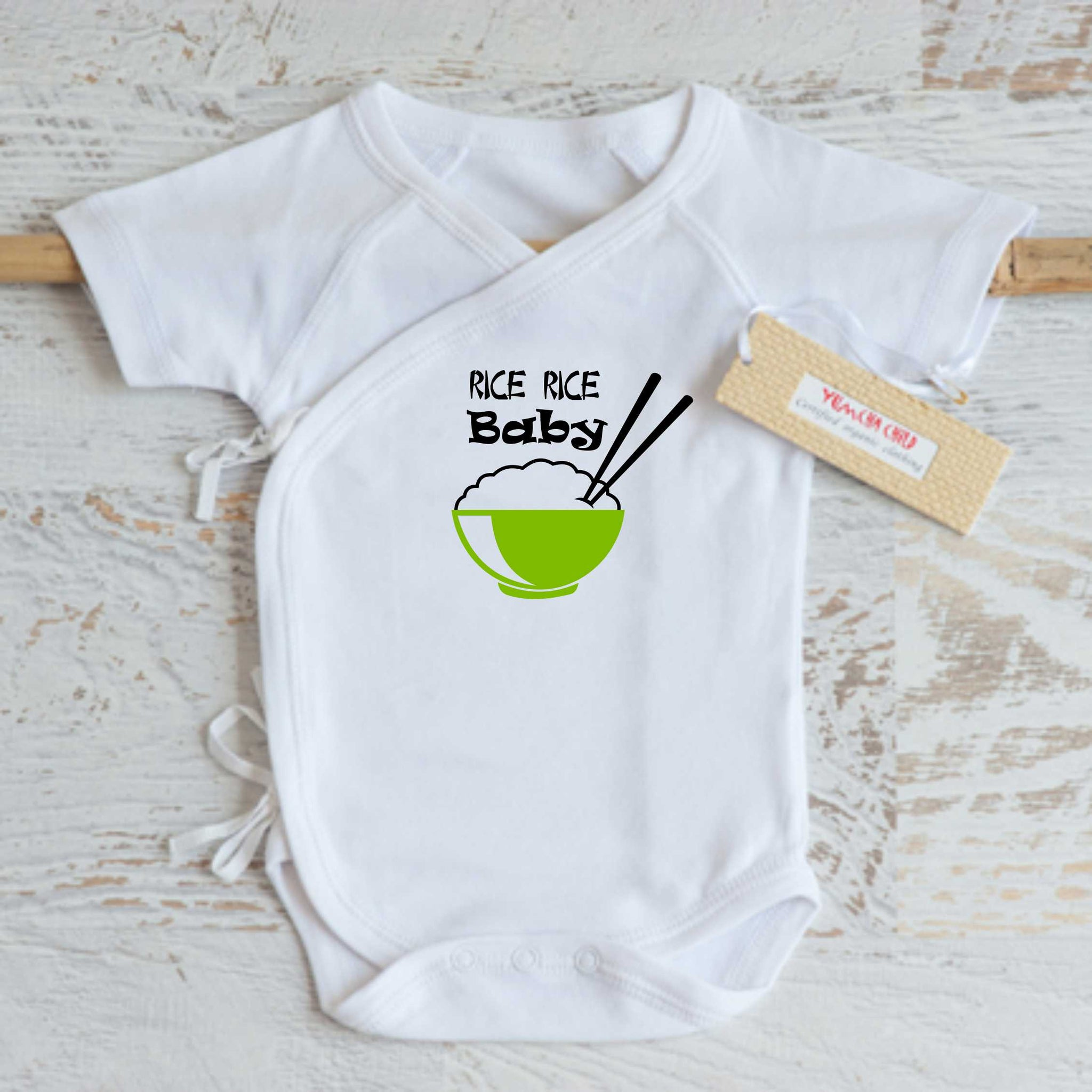 "Rice Rice Baby Onesie ""Green"""