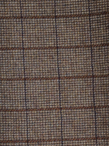 Textured Wool Brown Plaid
