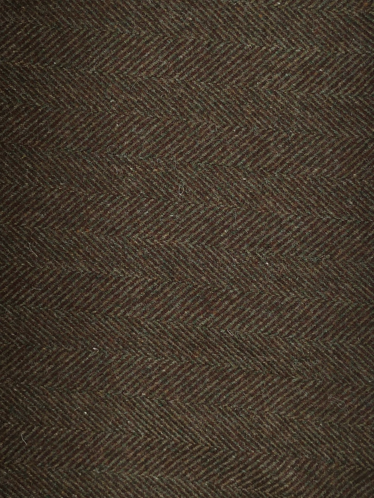 Textured Wool Green Herringbone