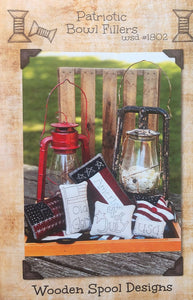 Patriotic Bowl Filler by Wooden Spool Designs