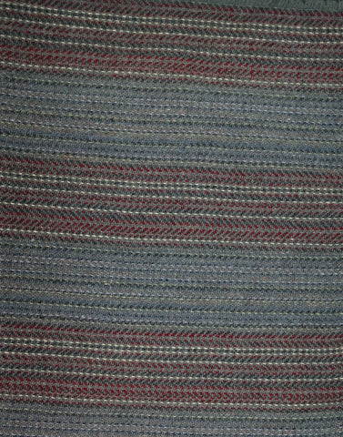Textured Wool Grey Plaid and Blue with maroon stripe