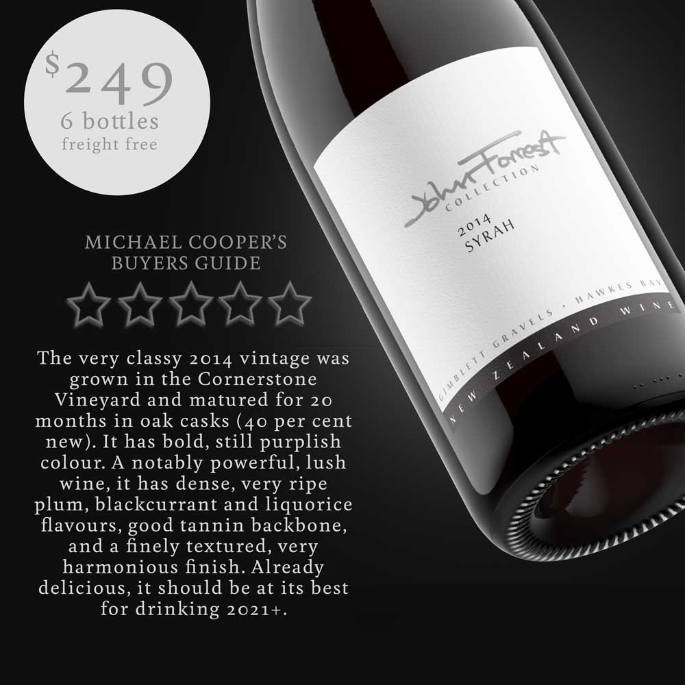 BLACK FRIDAY John Forrest Collection Syrah 2014