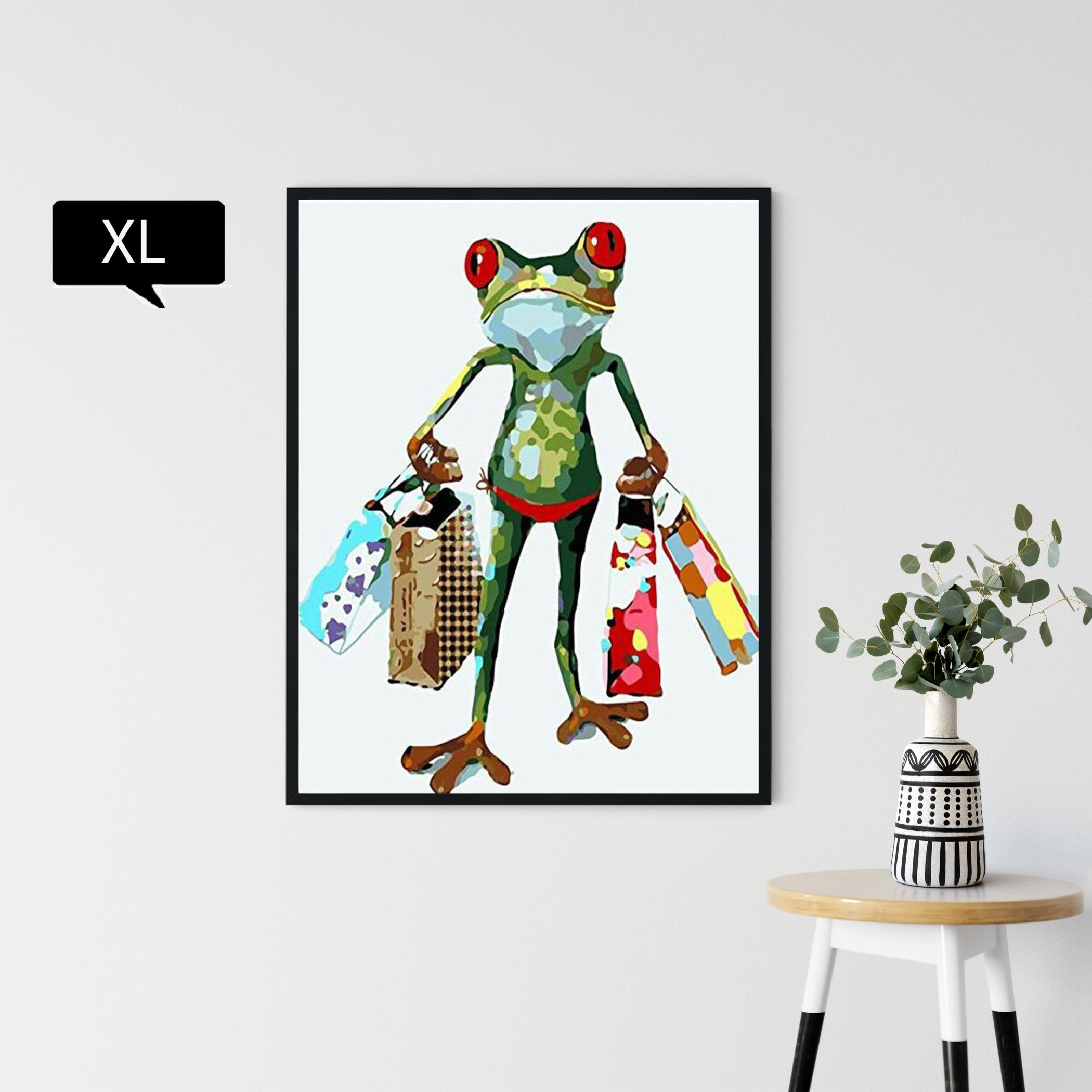 Shopoholic Frog - hey paint num