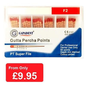 Gutta Percha Points F2 - 60 pcs (4119993876579)