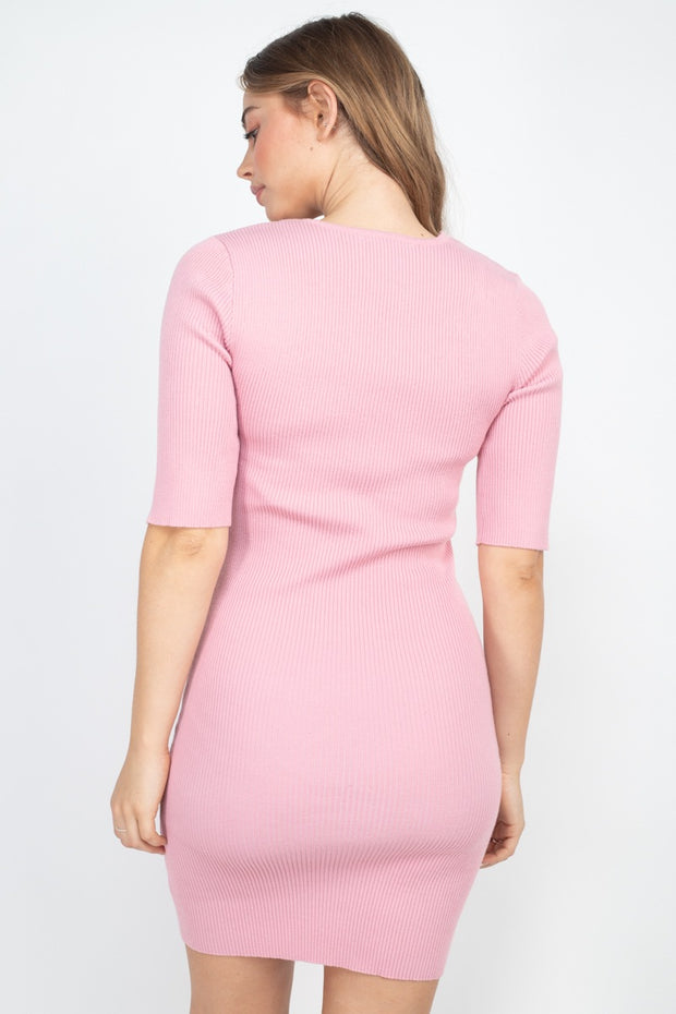Twist Knot Knit Dress
