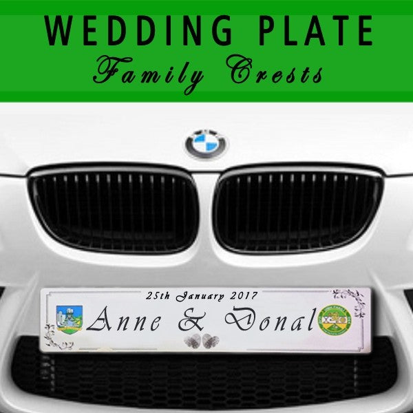 Wedding number plates Ireland Signage Donegal, Trade Signs Ireland, 3D Lettering, Lazer Engraving, Lazer Cutting, CNC, Retail, Trade, Industry, Office, Home, Auto