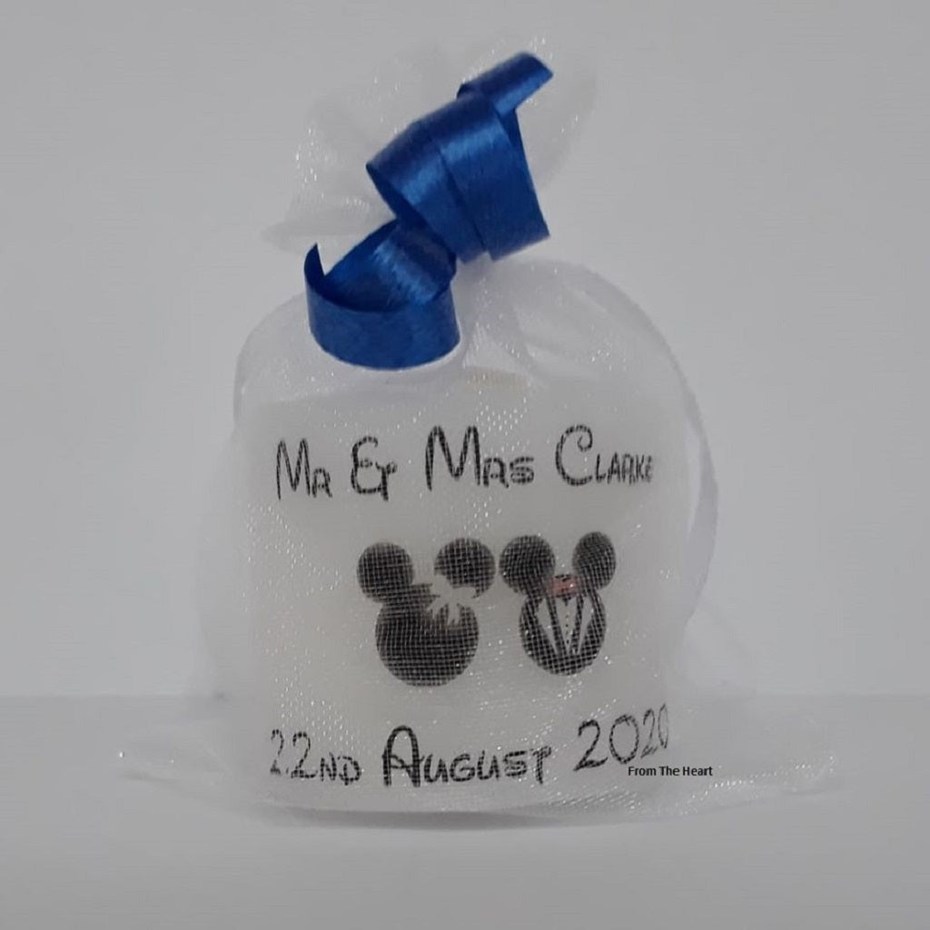 Set Of 10 Personalised Mickey & Minnie Mouse Wedding Favours