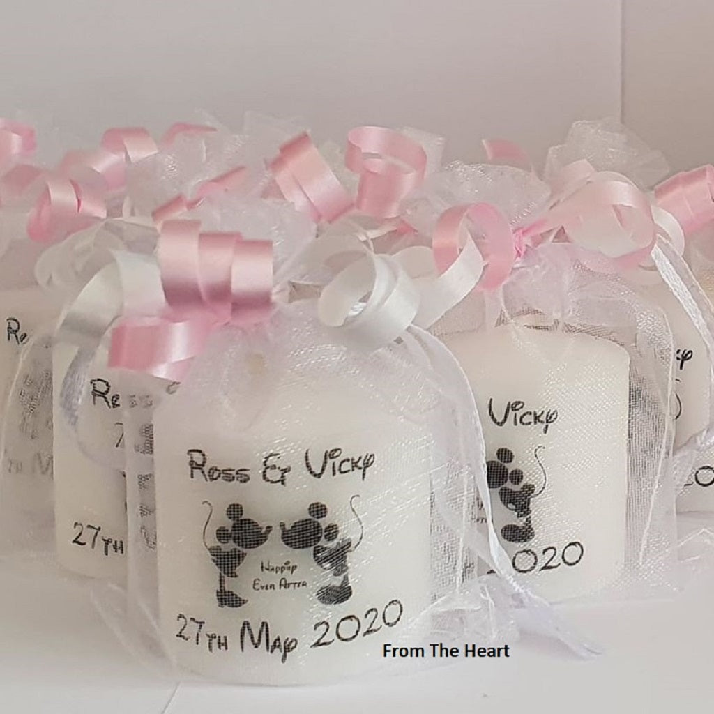 "Set Of 10 Personalised ""Happily Ever After"" Wedding Favours"
