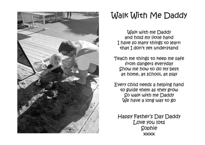 Personalised Walk With Me Daddy A4 Print