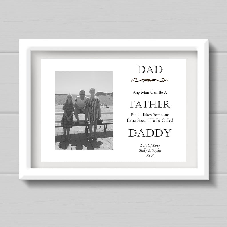 A4 Personalised Dad/Stepdad Gift/Poem