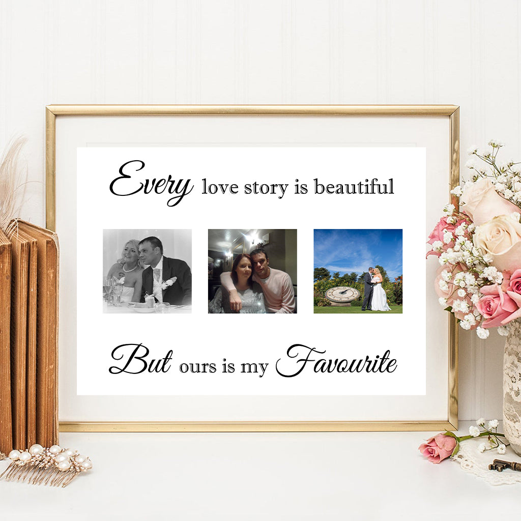 Every Love Story Is Beautiful Personalised Photo Print
