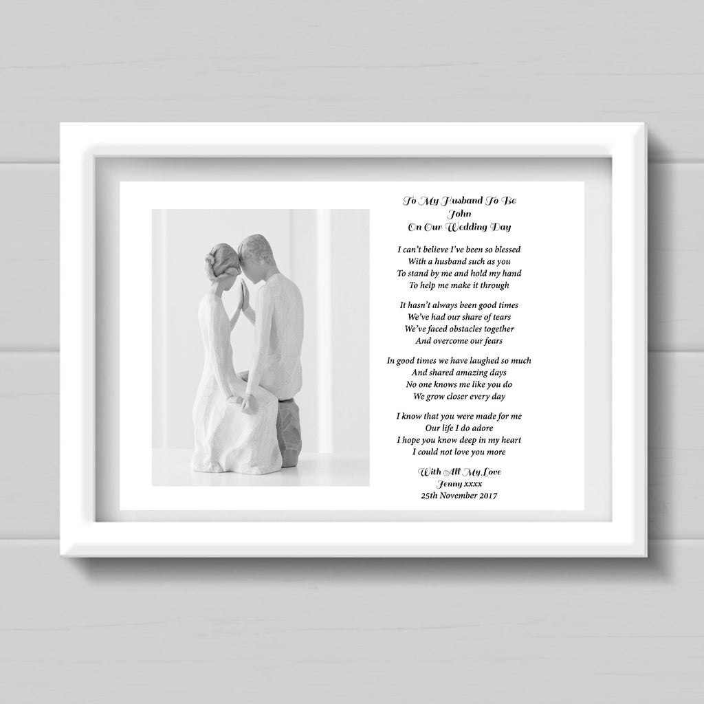 Personalised Husband To Be Poem