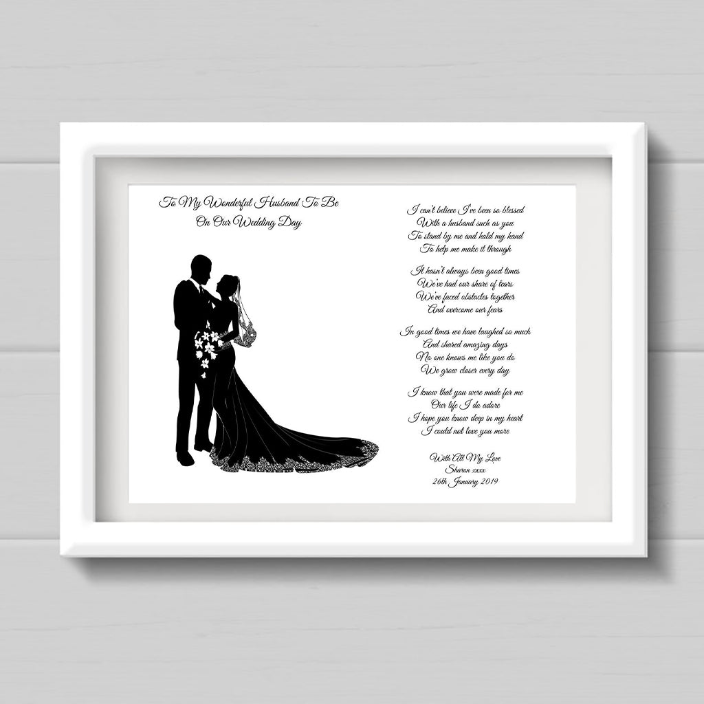 Husband To Be Poem Personalised
