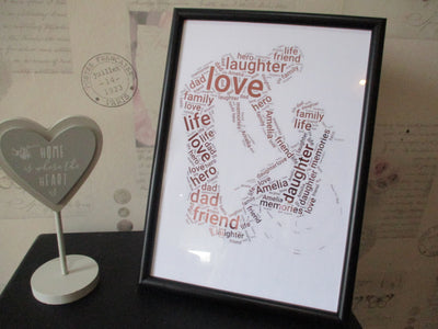 Father And Daughter Foiled Word Art Print