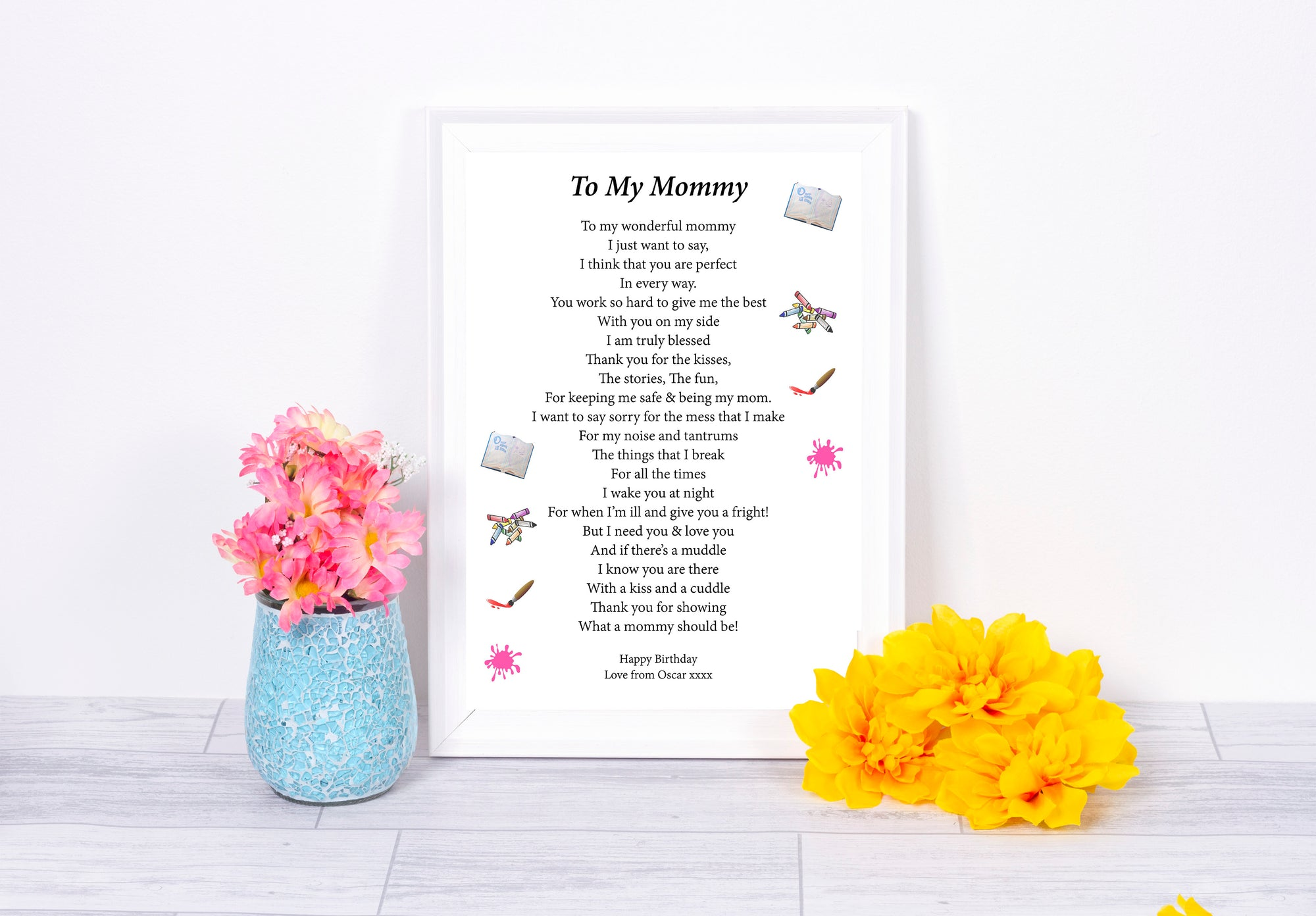 Personalised Letter To Mummy Print