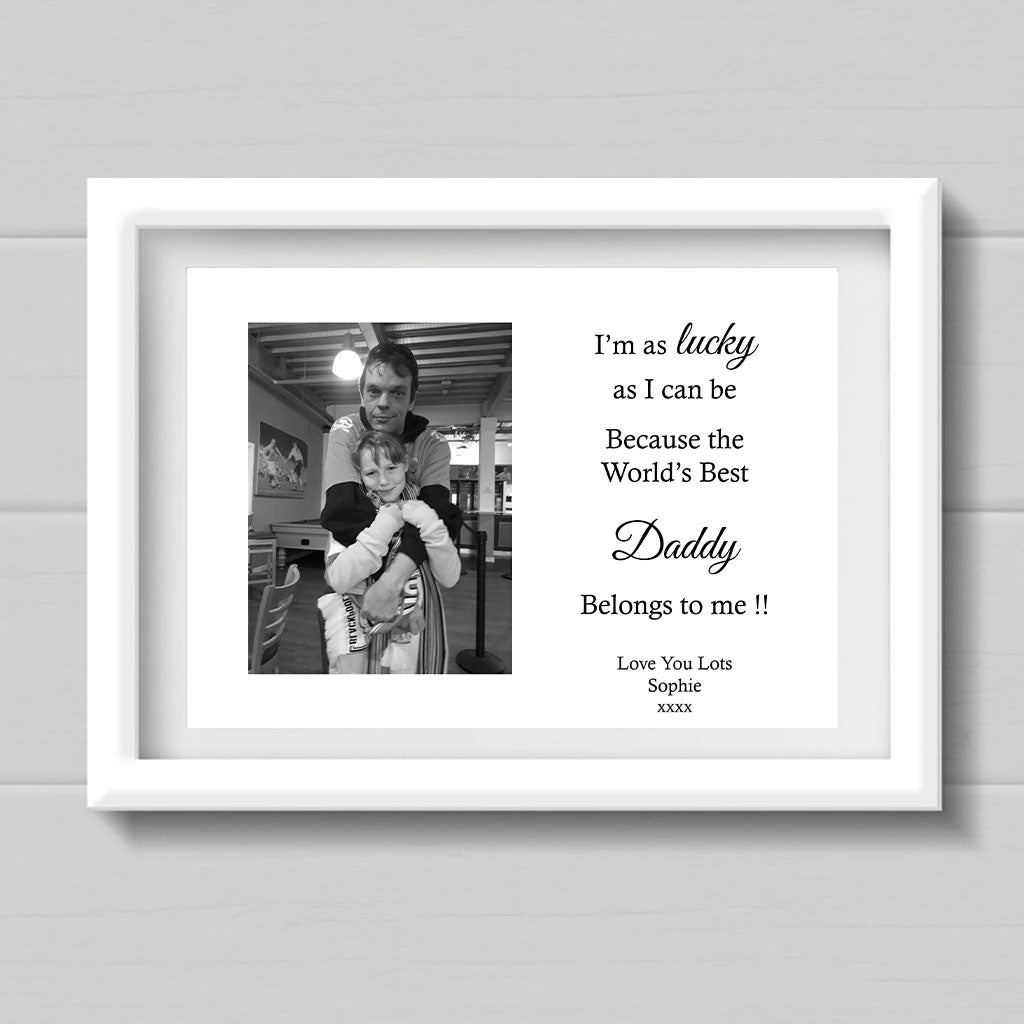 Personalised Lucky As Can Be Print For Daddy