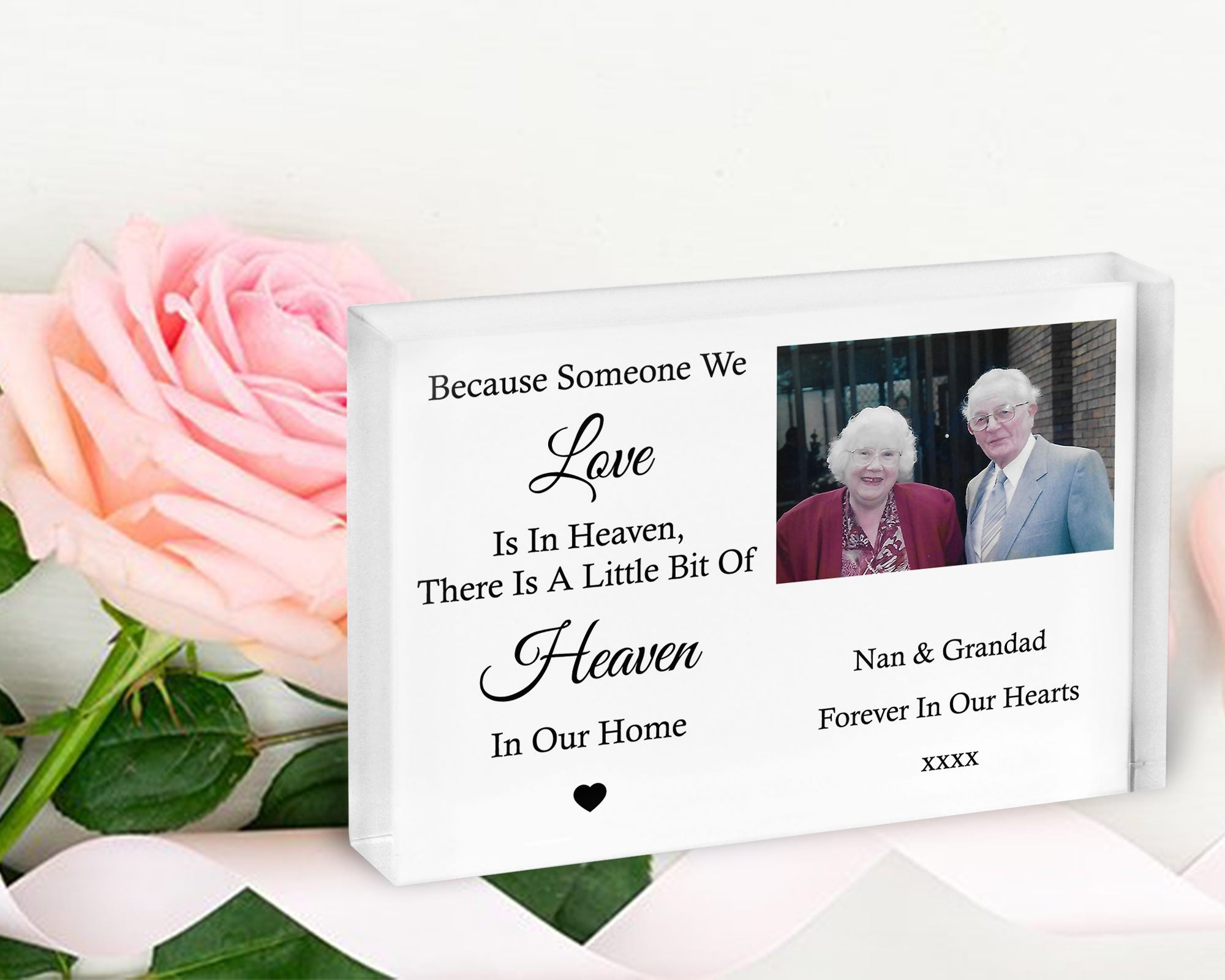 Remembrance Personalised Crystal Photo Block