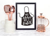 My Kitchen My Rules Foiled Print