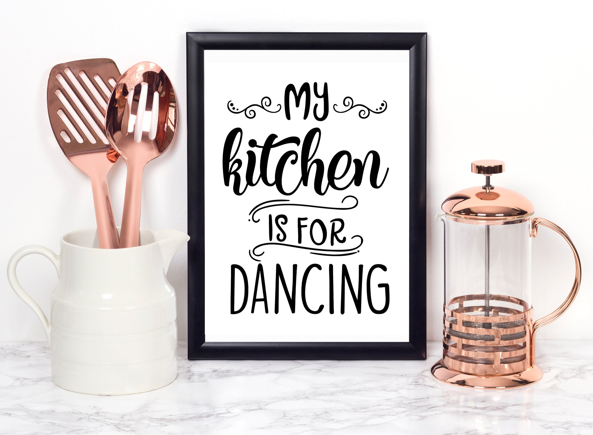 My Kitchen Is For Dancing Foiled Print