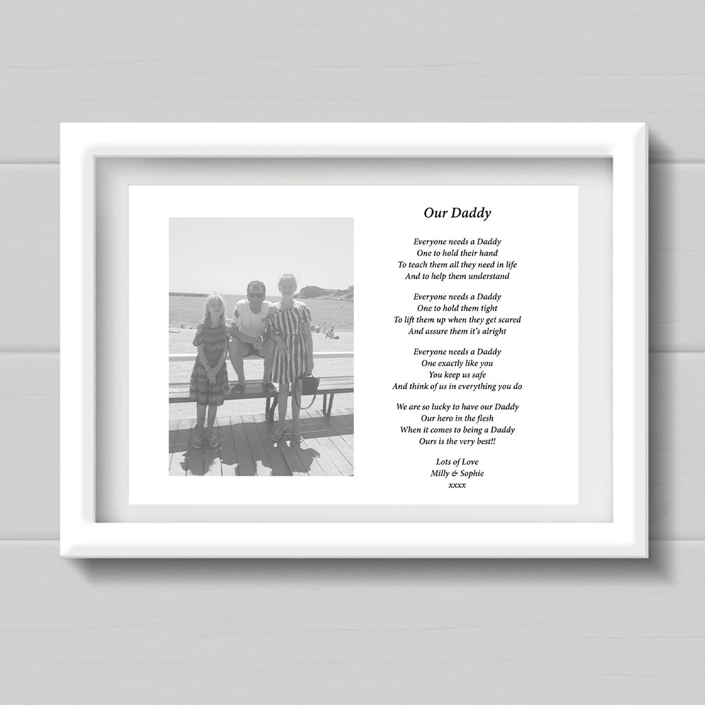"""Our Daddy"" Personalised Print"