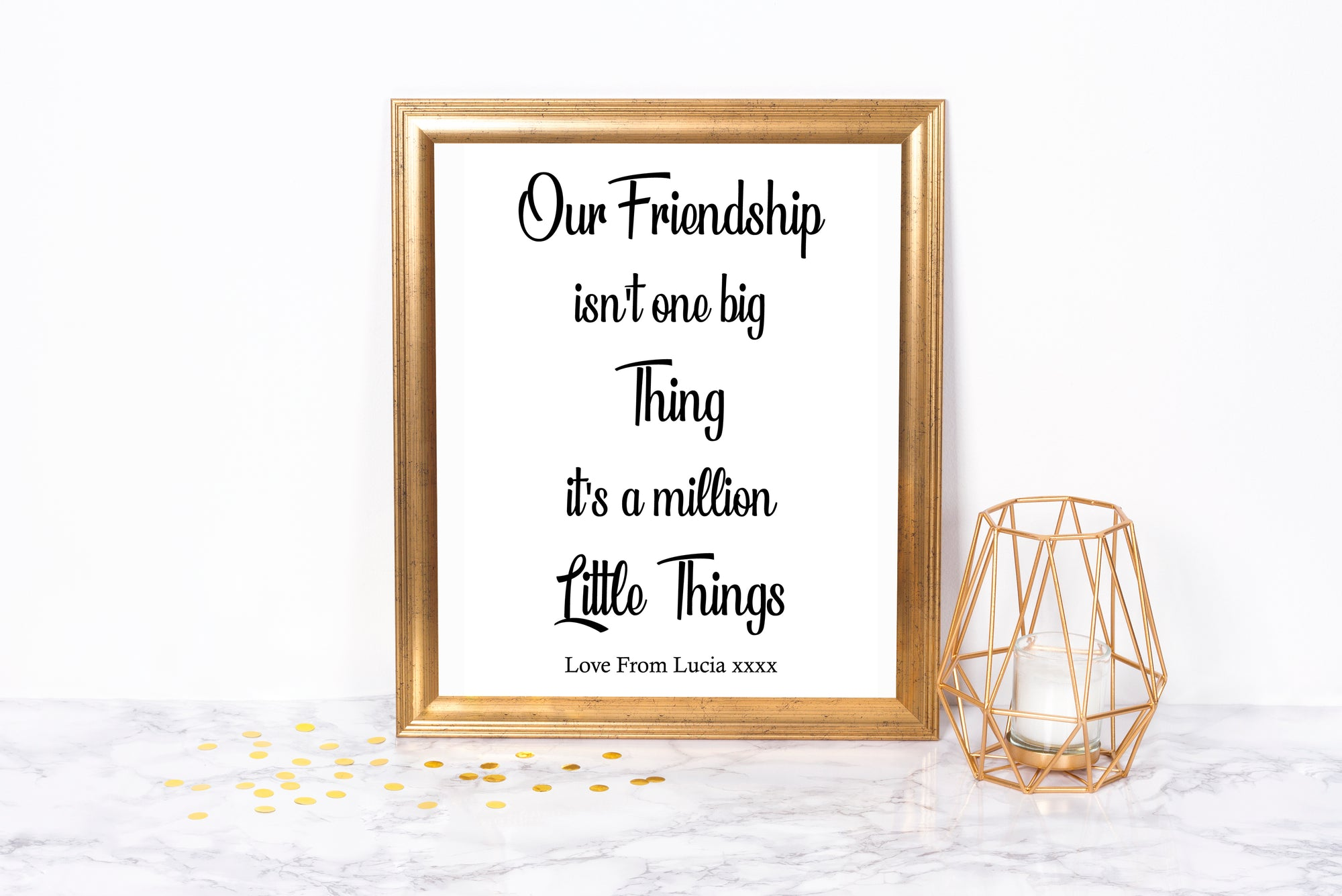 Our Friendship isn't One Big Thing Foil Print