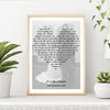 Personalised First Dance Song Print